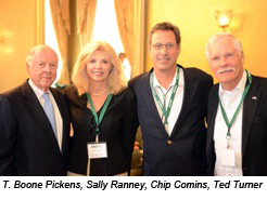 T. Boone Pickens, Sally Ranney, Chip Comins, Ted Turner