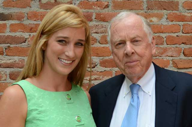 Green Girl with T Boone Pickens